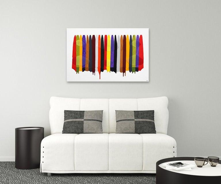 Fils I Colors CCCXCII - Contemporary Mixed Media Art by Raul de la Torre