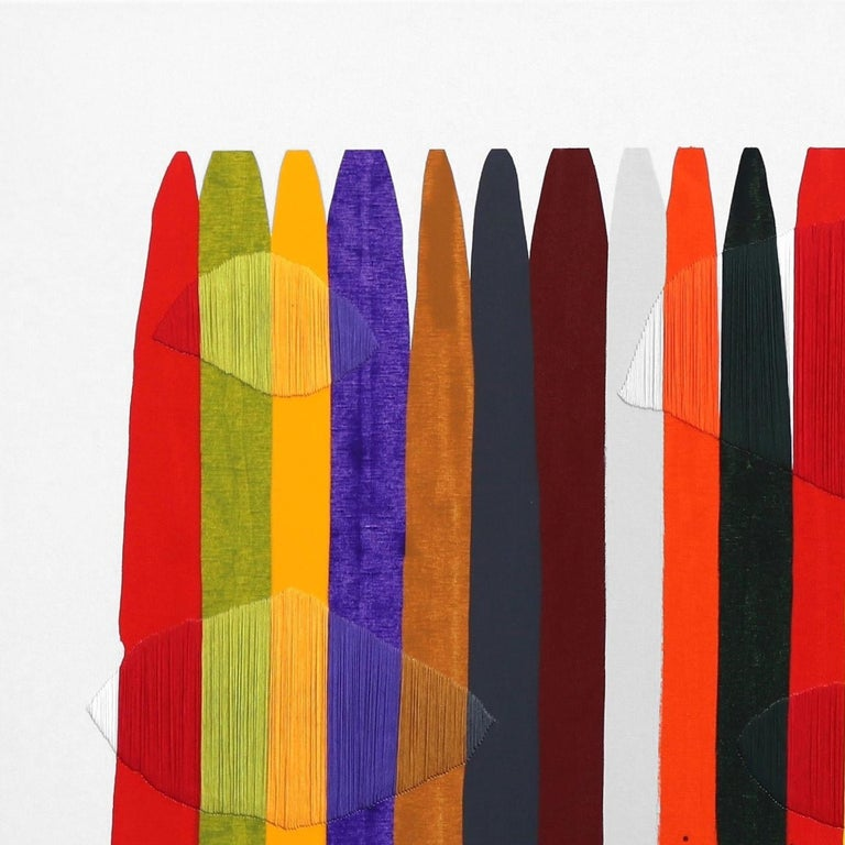 Barcelona artist Raul de la Torre's vibrant abstract mixed media artworks pay homage to material. De La Torre allows the materials to take over during the process and collaborates with the unexpected to create works that speak to the natures of