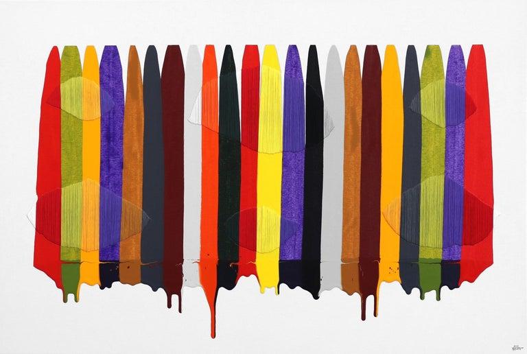 Fils I Colors CCCXCII - Mixed Media Art by Raul de la Torre