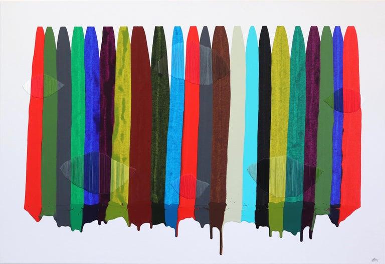 Fils I Colors CCCXCIII - Mixed Media Art by Raul de la Torre