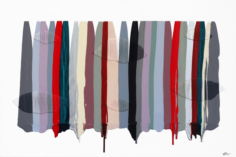 Raul de la Torre Abstract Painting - Fils I Colors CCXLVI