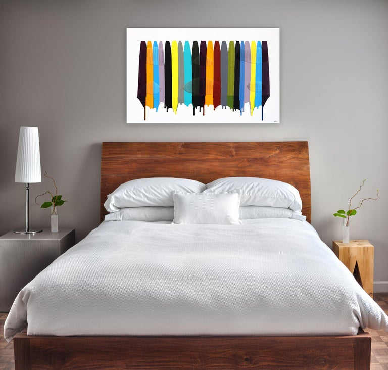 Fils I Colors CDLIII - Contemporary Mixed Media Art by Raul de la Torre