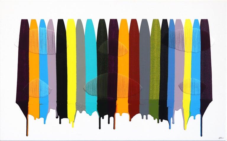 Fils I Colors CDLIII - Mixed Media Art by Raul de la Torre