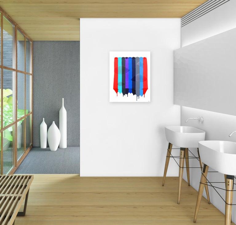 Fils I Colors CDLIV - Contemporary Mixed Media Art by Raul de la Torre