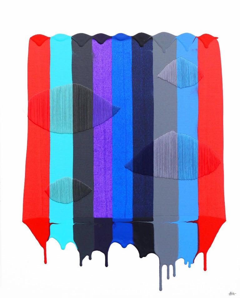 Fils I Colors CDLIV - Mixed Media Art by Raul de la Torre