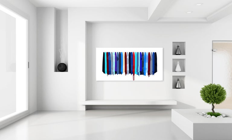 Fils I Colors CDLXXXIII - Contemporary Mixed Media Art by Raul de la Torre