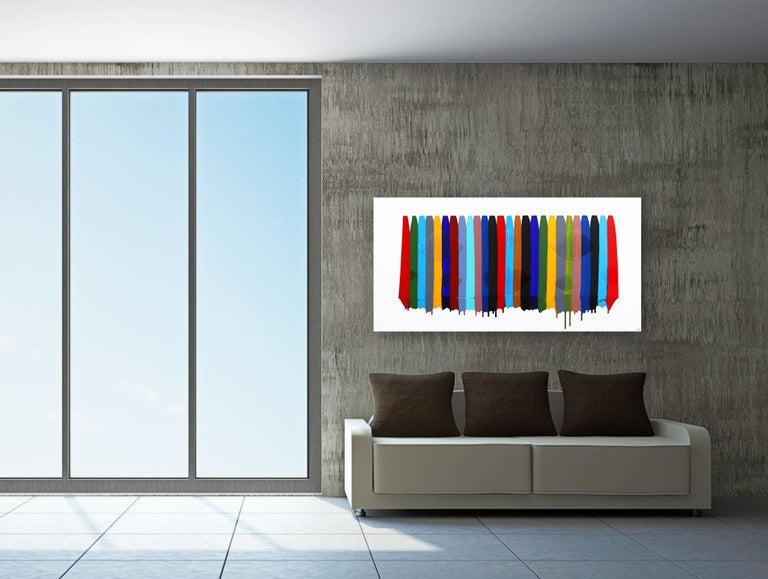 Fils I Colors CDXCVII - Contemporary Mixed Media Art by Raul de la Torre