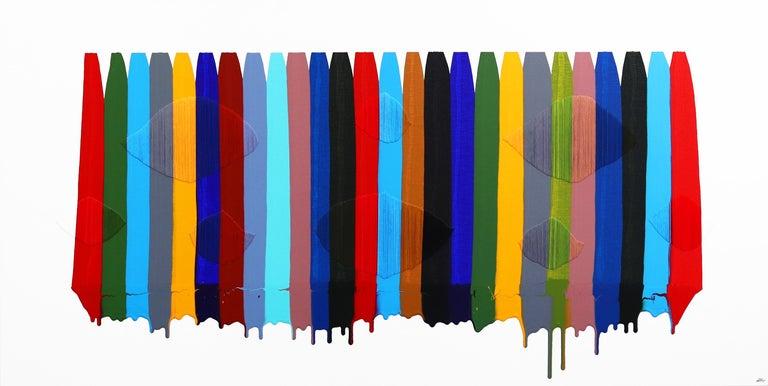 Fils I Colors CDXCVII - Mixed Media Art by Raul de la Torre