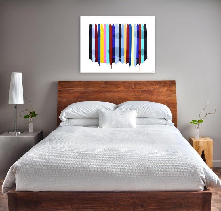 Fils I Colors DLI - Contemporary Mixed Media Art by Raul de la Torre