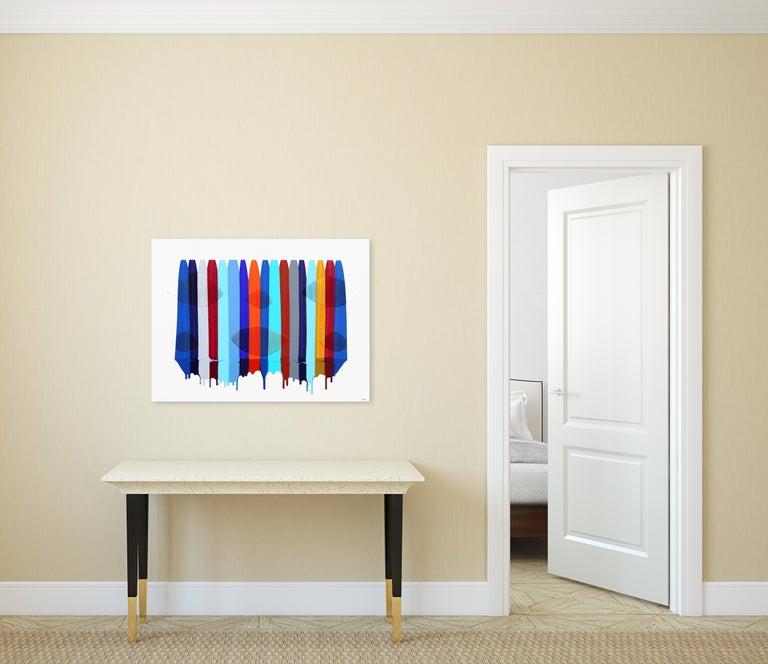 Fils I Colors DXVII - Contemporary Mixed Media Art by Raul de la Torre
