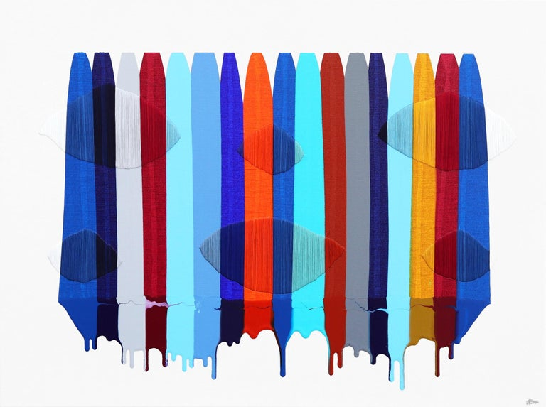 Fils I Colors DXVII - Mixed Media Art by Raul de la Torre