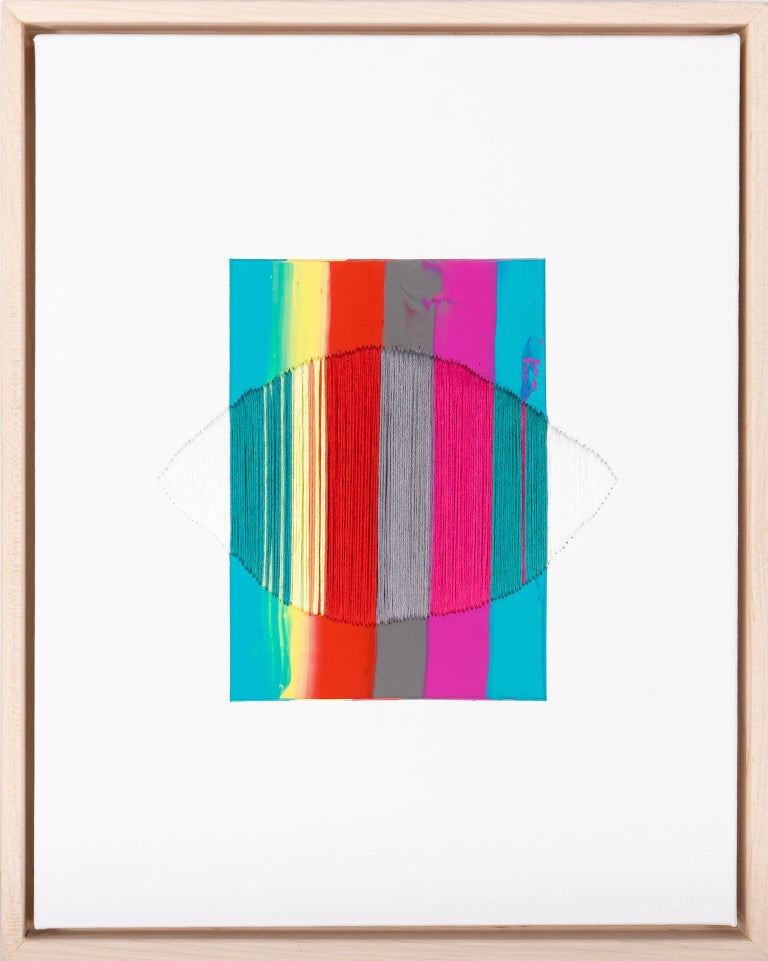 Raul de la Torre Abstract Painting - Brooklyn: Let My Blood Forget the Map of Its Travels