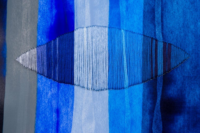 Fils I Colors CCCLXXVIII - Abstract Painting by Raul de la Torre