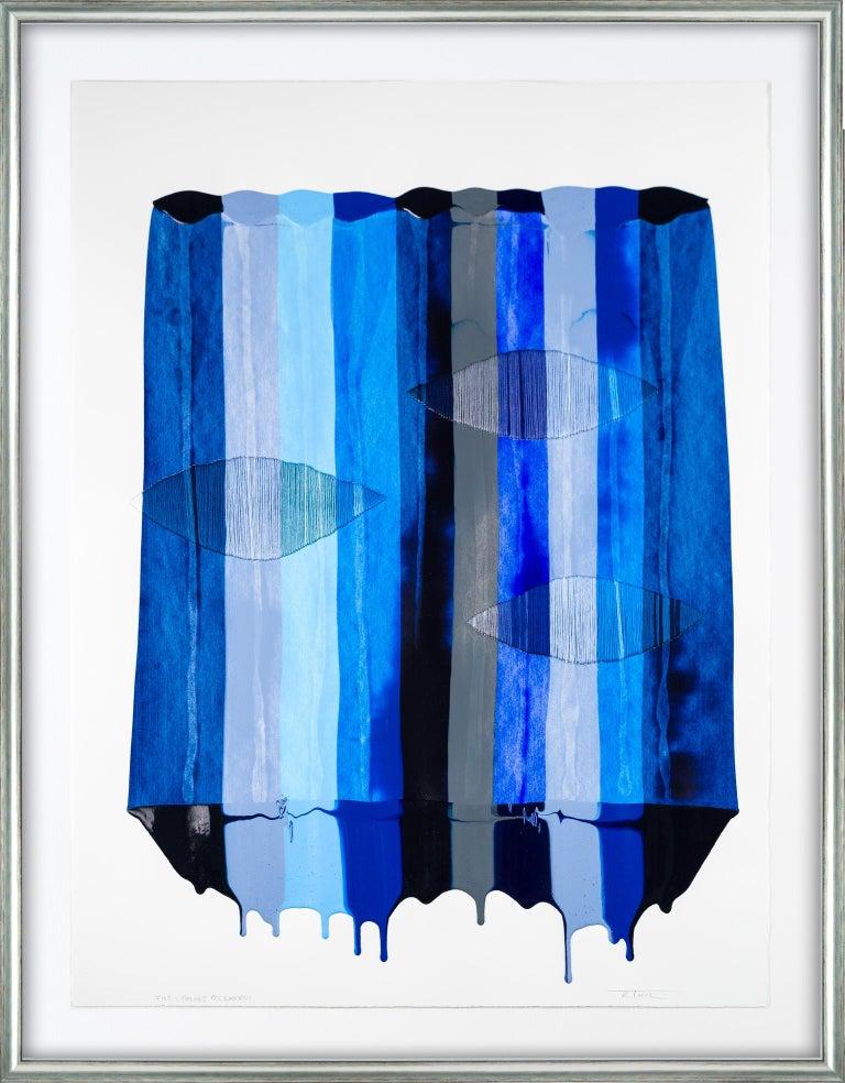 Raul de la Torre Abstract Painting - Fils I Colors CCCLXXVIII