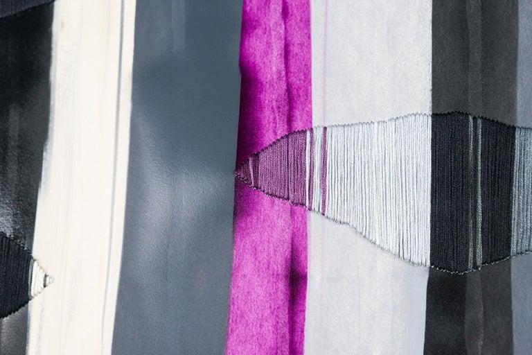 Fils I Colors CCCLXXXI - Abstract Painting by Raul de la Torre