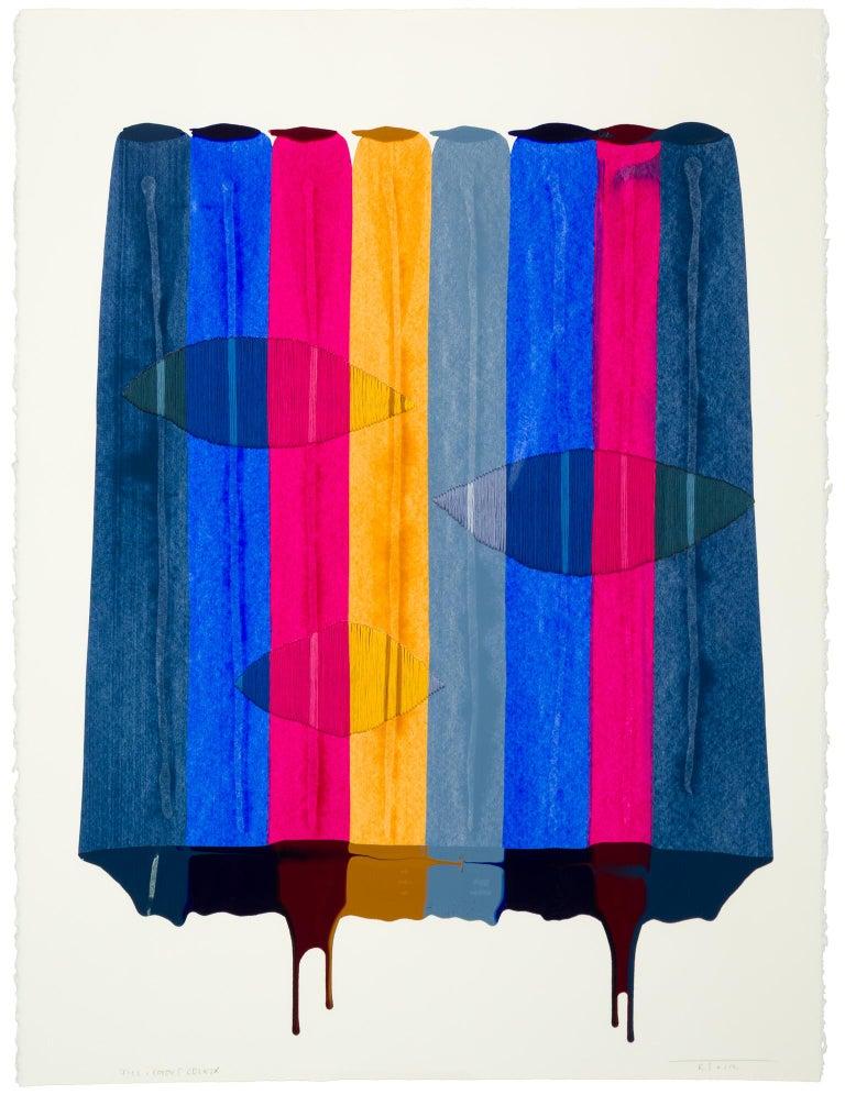 Fils I Colors CDLXIX - Abstract Mixed Media Art by Raul de la Torre