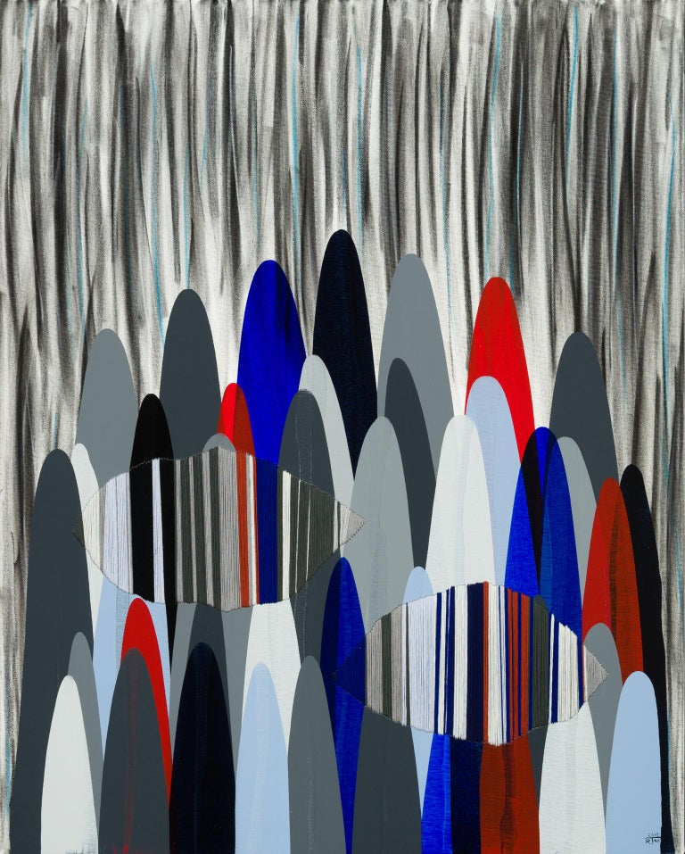 Poemes LXXXIII - Abstract Mixed Media Art by Raul de la Torre