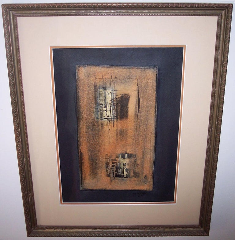 Black Mixed Media on Paper Modern Cuban - Abstract Expressionist Mixed Media Art by Raul Milian