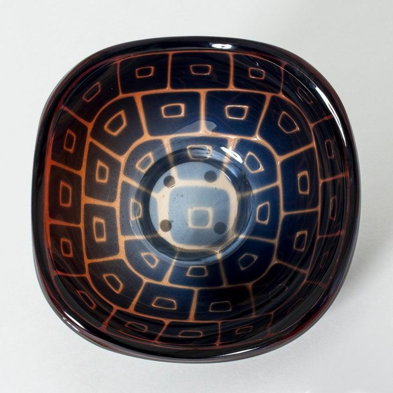 Swedish Ravenna Bowl by Sven Palmqvist for Orrefors For Sale
