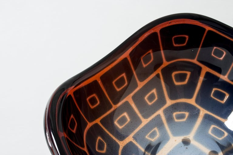 Mid-20th Century Ravenna Bowl by Sven Palmqvist for Orrefors For Sale