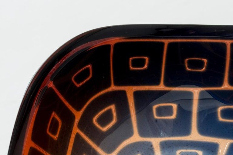 Glass Ravenna Bowl by Sven Palmqvist for Orrefors For Sale