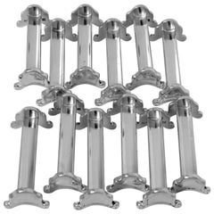 Ravinet D'Enfert Antique French Silver Knife Rests Set of 12 Pc