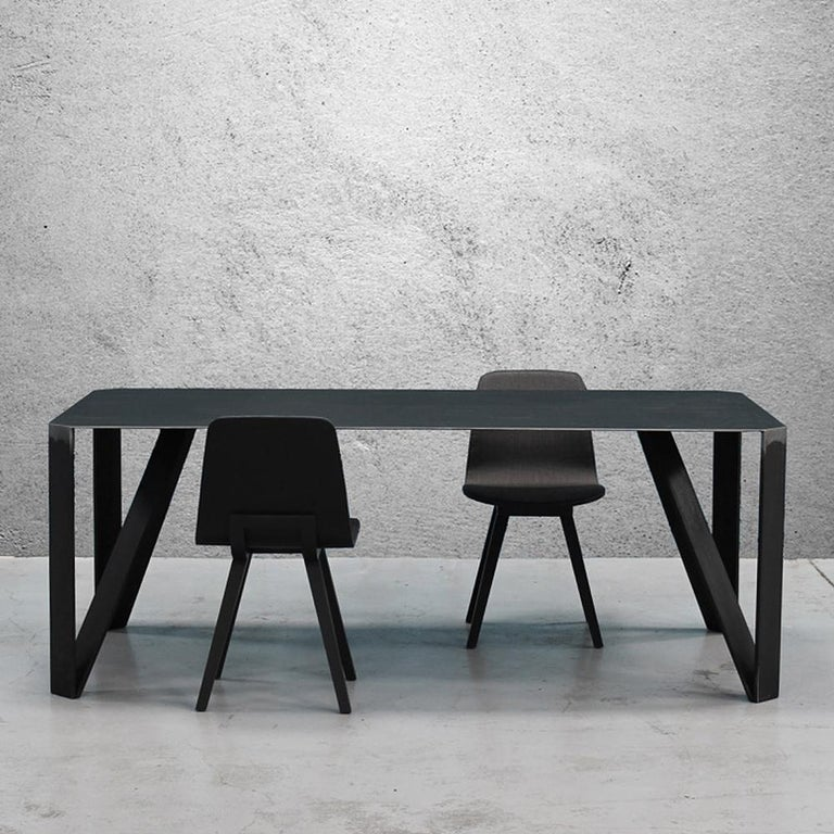 French Raw Angles Dining Table For Sale