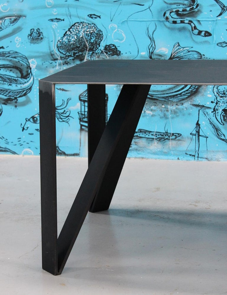 Hand-Crafted Raw Angles Dining Table For Sale