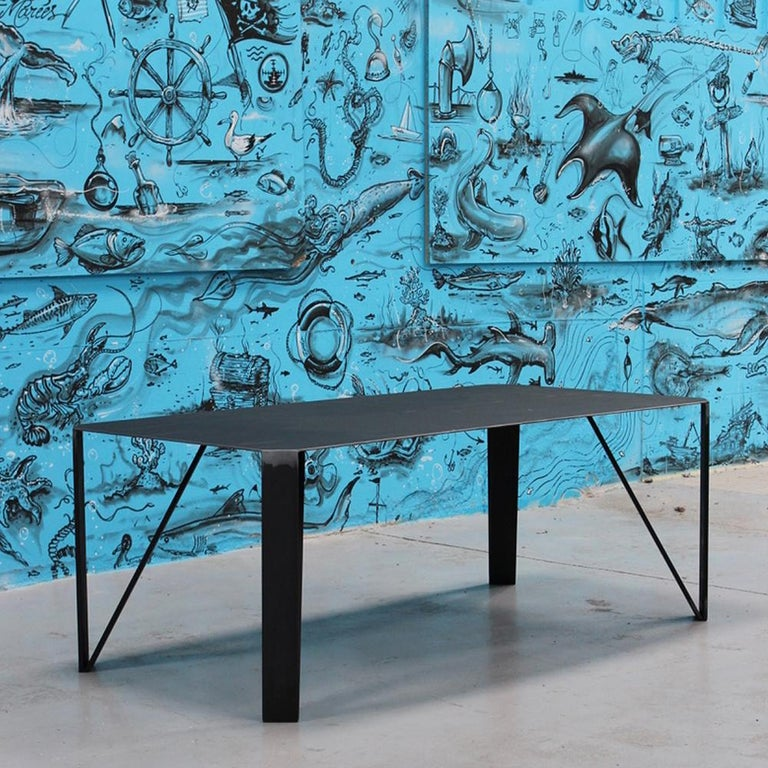 Contemporary Raw Angles Dining Table For Sale