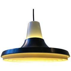 Raw Danish Aluminium Pendant Lamp from Nordisk Solar, 1960s