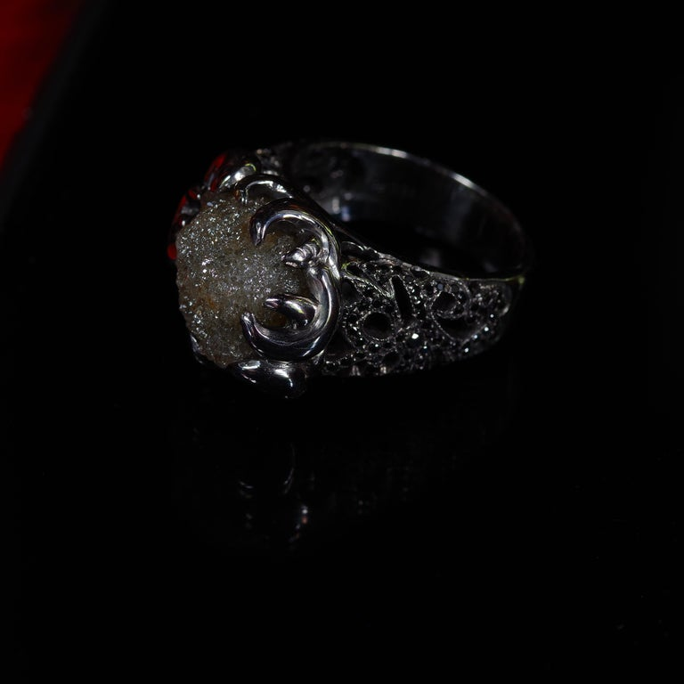 Raw Diamond Ring of 17 Carat from before Raw Diamond Rings Were a Thing For Sale 6