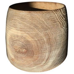 Raw Oak Bowl by Fritz Baumann
