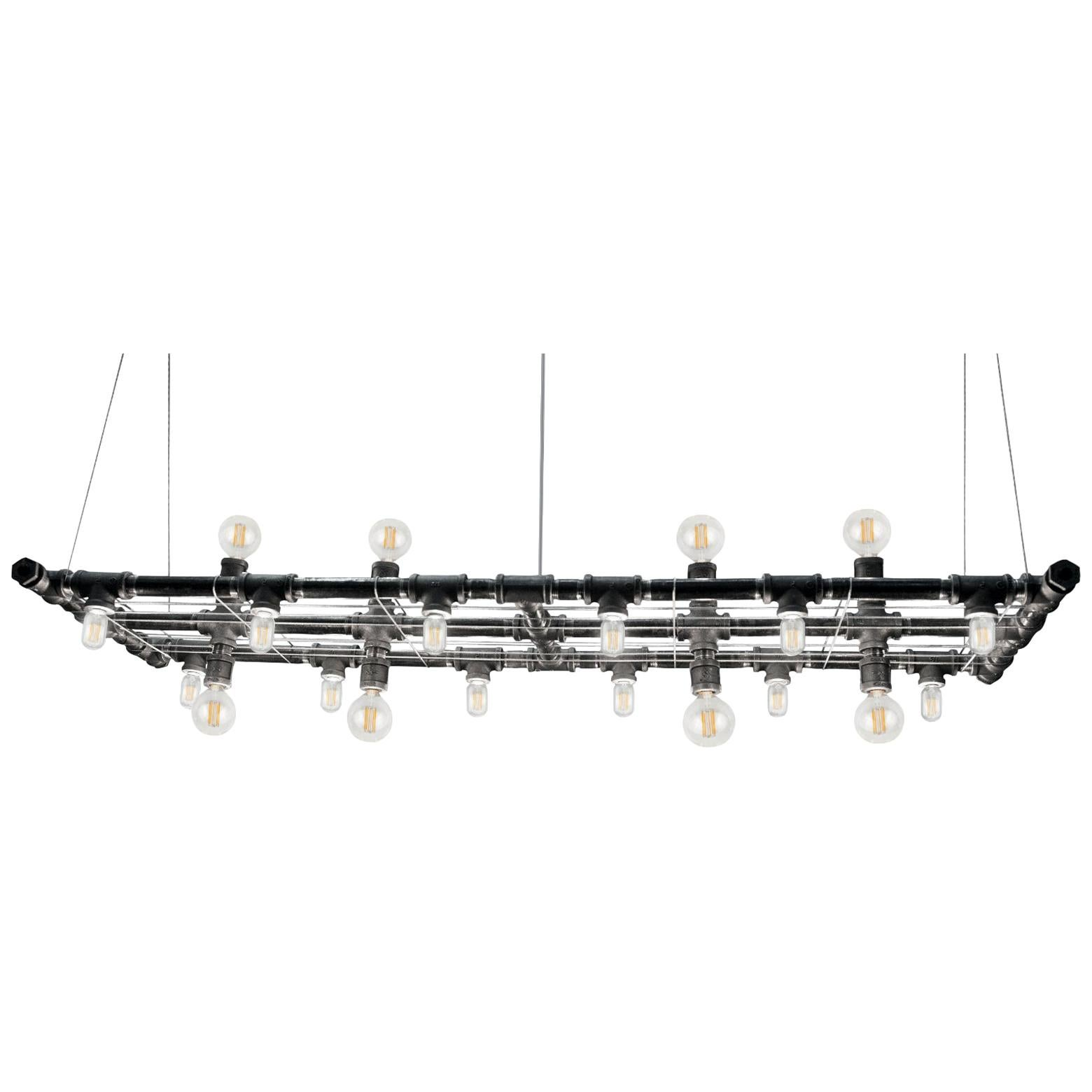 Raw Steel Banqueting Long Linear Suspension