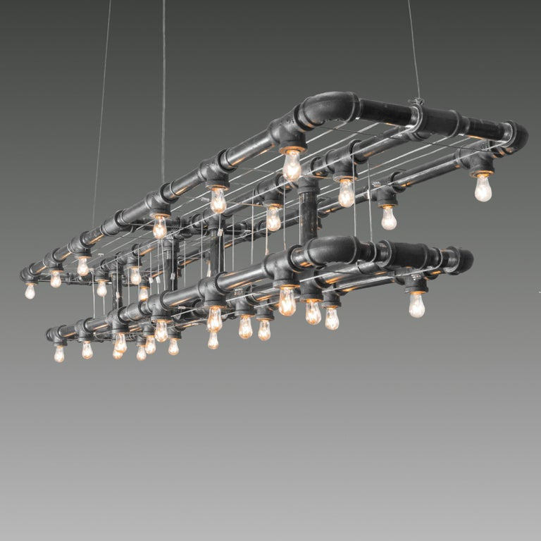 Industrial Raw Steel Double-Decker Marquee Linear Suspension For Sale