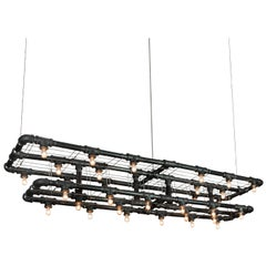 Raw Steel Double-Decker Marquee Linear Suspension