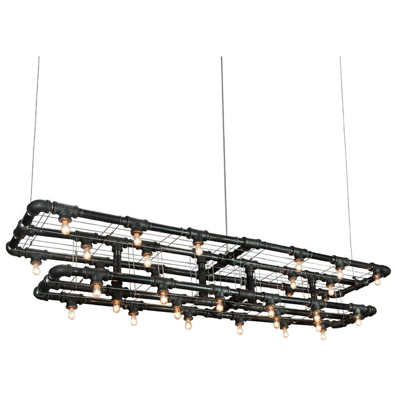 Raw Steel Double-Decker Marquee Linear Suspension For Sale