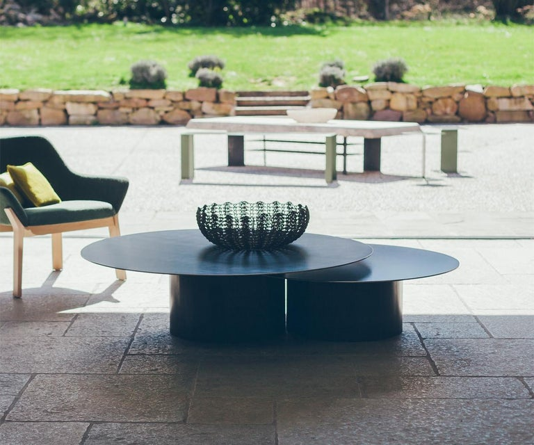 Round Coffee Table Uk Sale: Raw Steel Round Set Of 2 Coffee Table For Sale At 1stdibs