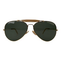 Ray-Ban Bausch & Lomb Vintage Gold Mint Outdoorsman Aviator Sunglasses