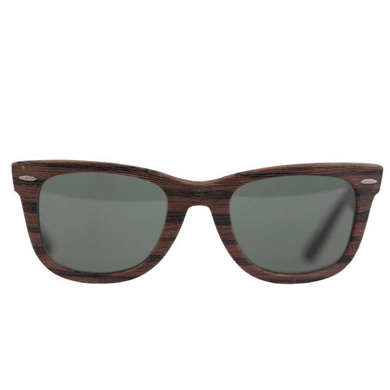 RAY BAN B&L U.S.A. Vintage 5022 WAYFARER WOODIES SUNGLASSES eyewear w/CASE