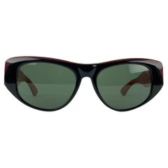 Ray-Ban B&L Vintage Black Red Sunglasses Mod. Dekko 54-18 140 mm