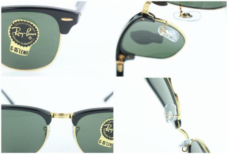 923465f81c Ray-Ban Black Rb3016 Clubmaster 49 B25mz1019 Sunglasses In New Condition  For Sale In Forest