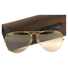 Ray Ban Vintage Aviator Gold Fantasees 62Mm B / L Sunglasses, 1970s