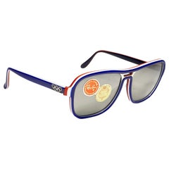 Ray Ban Vintage B&L Stateside Blue Red White Sport Lenses Sunglasses US