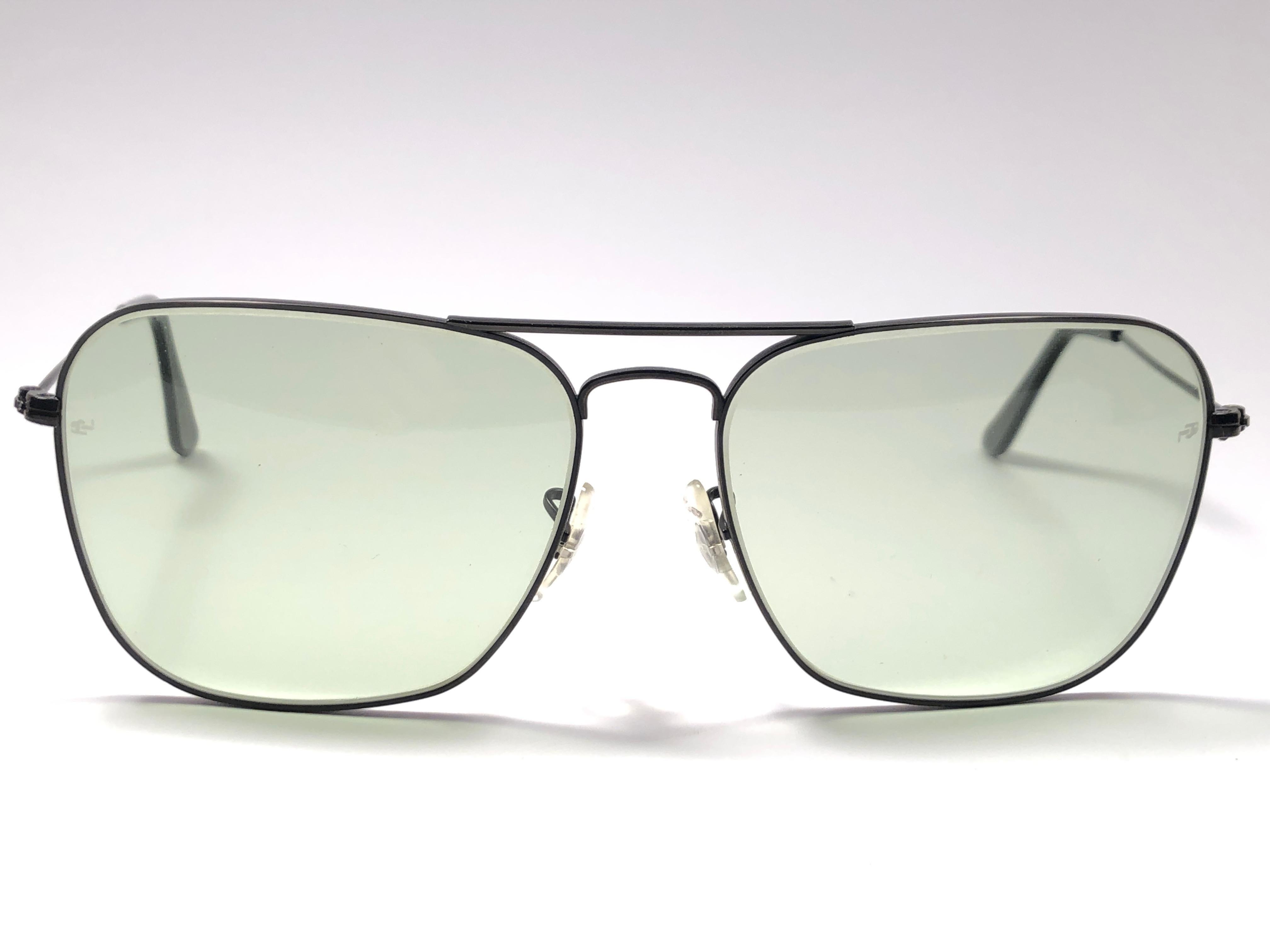668bf6af51f Ray Ban Vintage Caravan Black Green Changeable Lenses B L Sunglasses