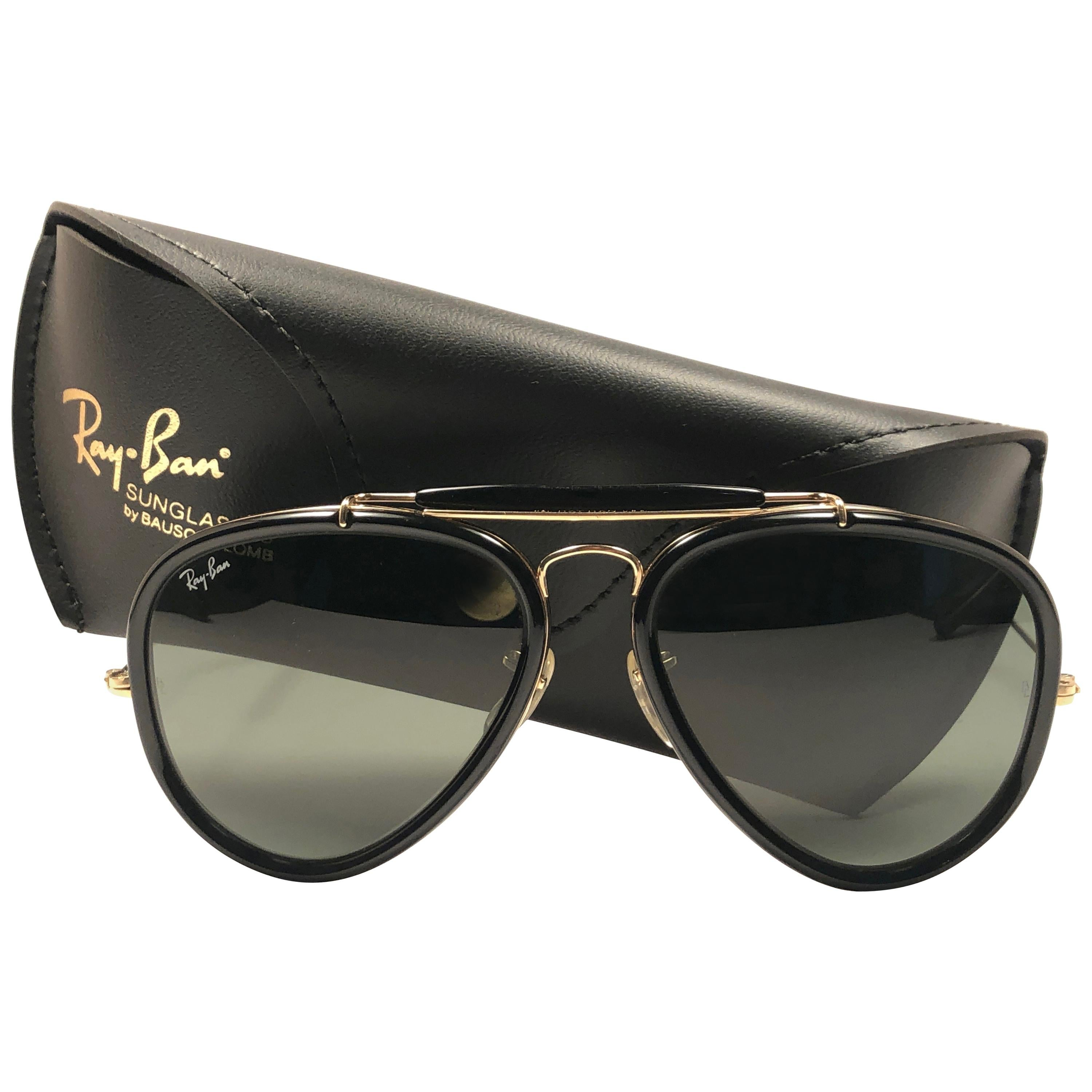 0e2f7106f0874 Ray Ban Vintage G Style Black Outdoorsman 62Mm B L Sunglasses