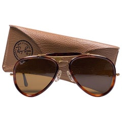 Ray Ban Vintage G Style Dark Tortoise Outdoorsman 62Mm B&L Sunglasses, 1980s