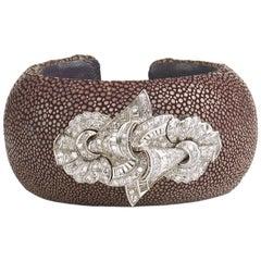 Ray Bangle with Double Clip Brooch