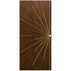 Ray Burst Single Entry Door with Radial Walnut