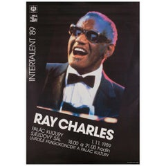 """""""Ray Charles"""" 1989 Czech A1 Poster"""