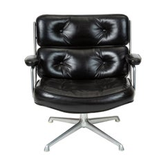 Ray and Charles Eames Time Life Lobby Chair in Black Leather